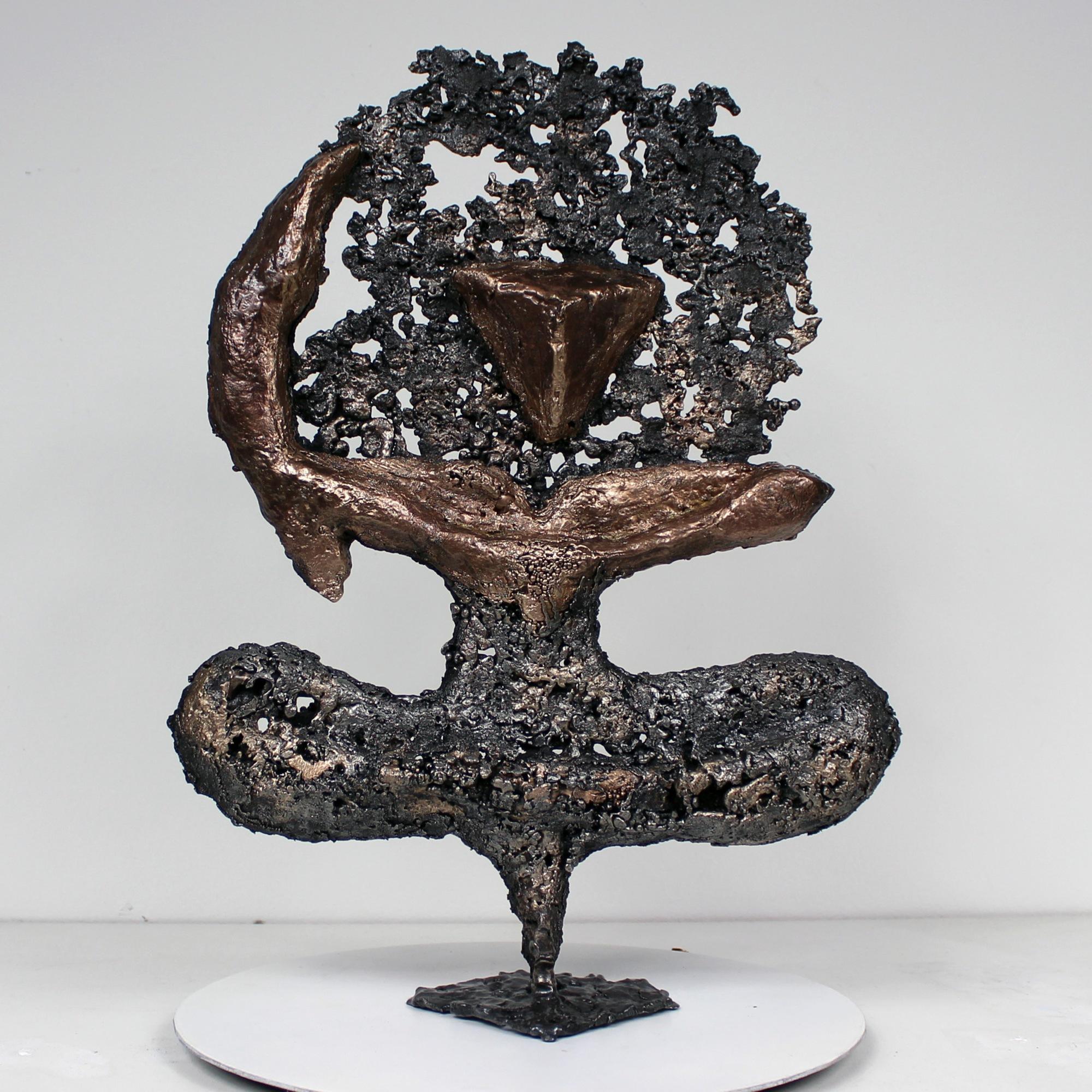 Pavarti calligraphie violette I - Sculpture Metal Buil