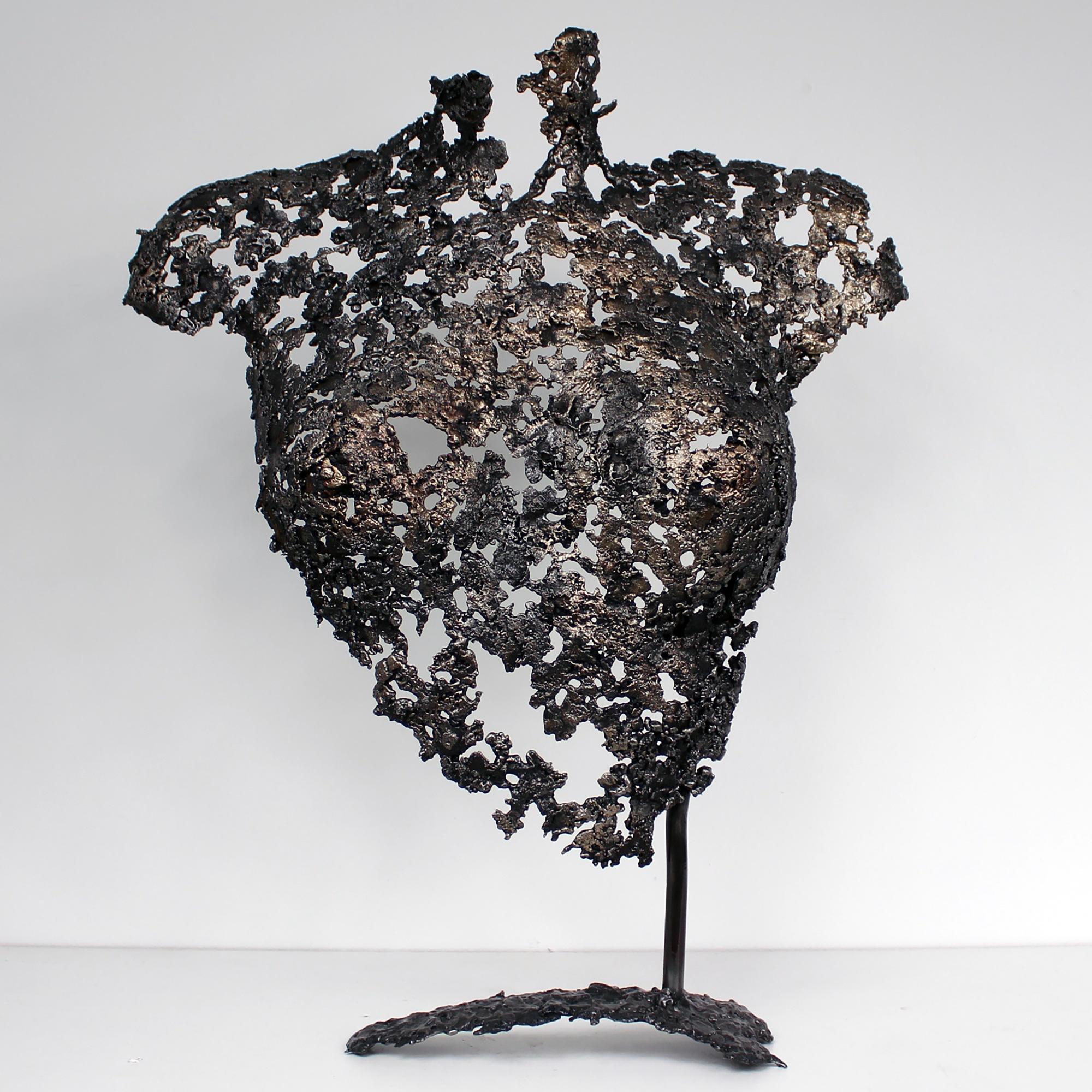 Belisama Epine - Sculpture Philippe Buil - Buste de femme Metal