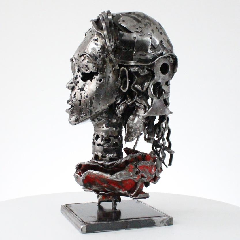 Sculptures metal de Sébastien Ruiz La gitane