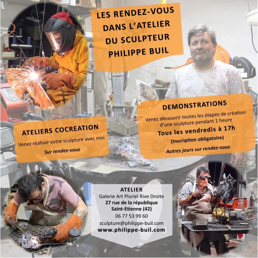 Les rendez-vous dans l'atelier du sculpteur Philippe Buil