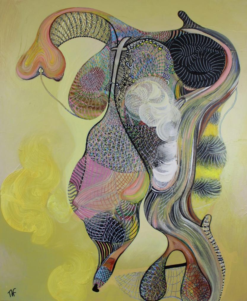 Autoportrait - Peinture de Thierry Fabre - Exposition Galerie Art Plur