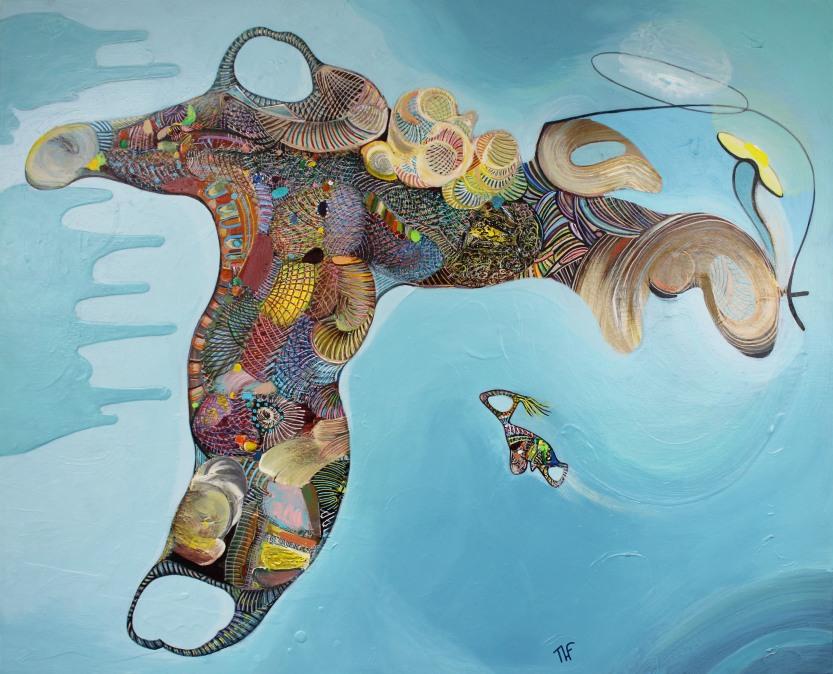 Envol - Peinture de Thierry Fabre - Exposition Galerie Art Plur