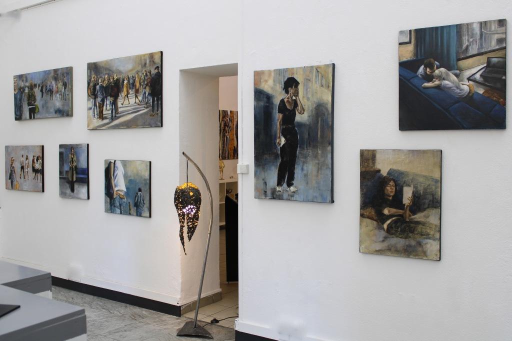 Exposition peintures et sculptures Galerie Art Pluriel Rive Droi