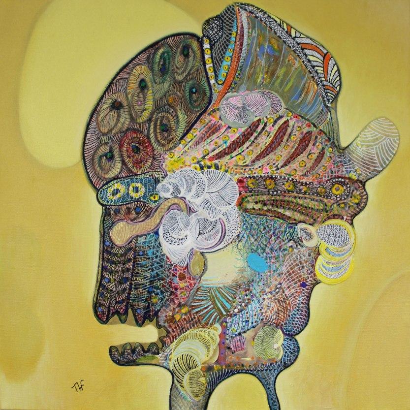 Profil - Peinture de Thierry Fabre - Exposition Galerie Art Plur