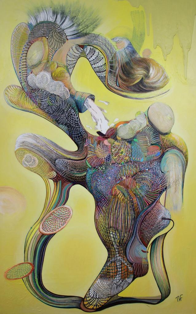 Vague souvenir de l'humanité - Peinture de Thierry Fabre - Exposition Galerie Art Plur